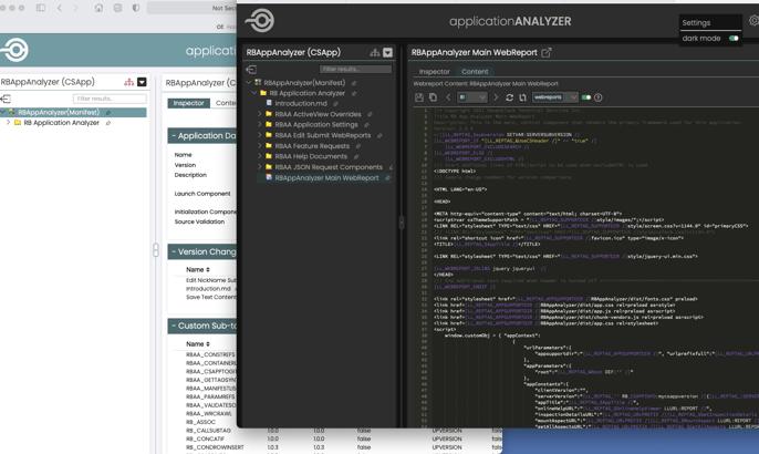 App analyzer - light and dark