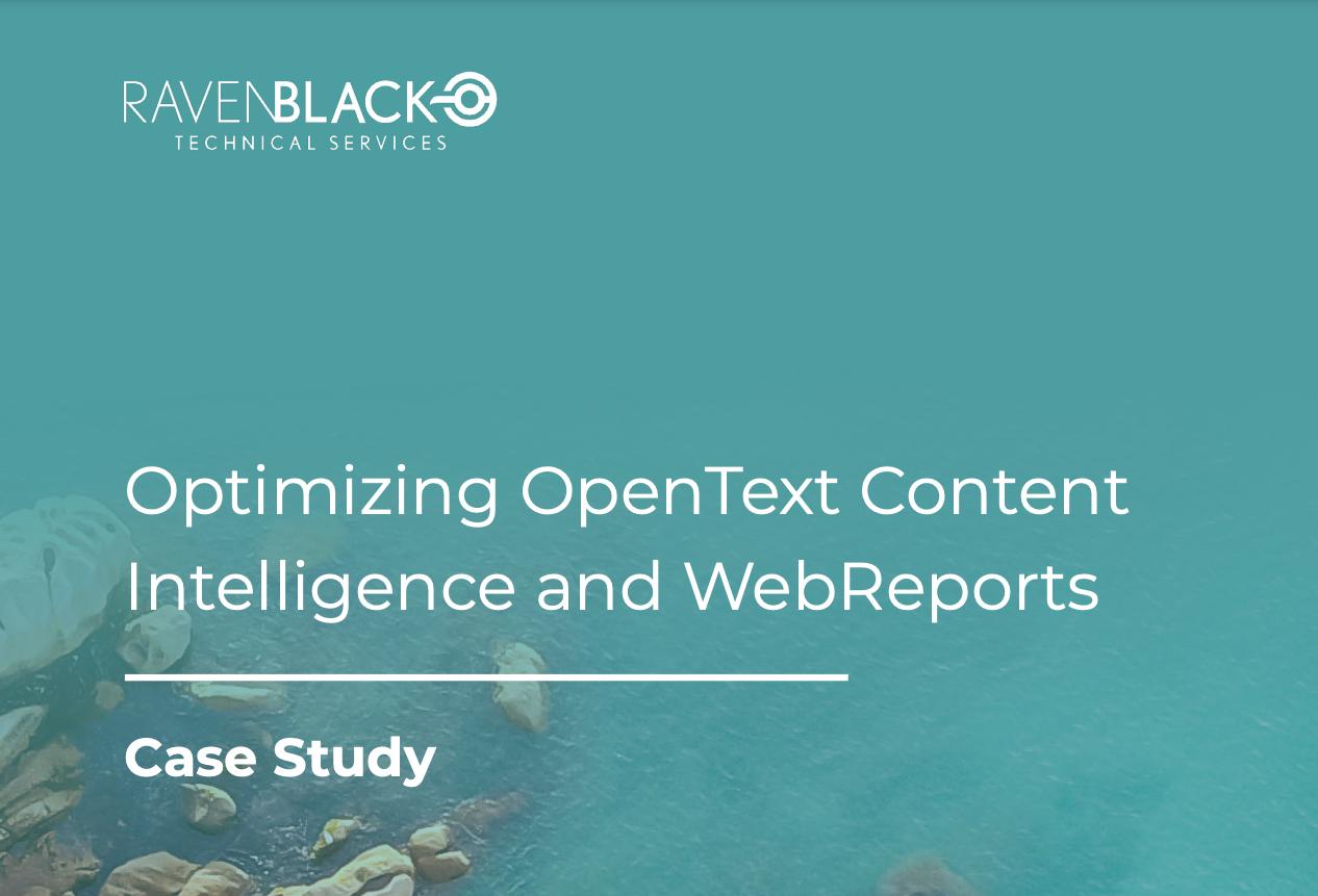 Optimizing OpenText Content Intelligence and WebReports-1